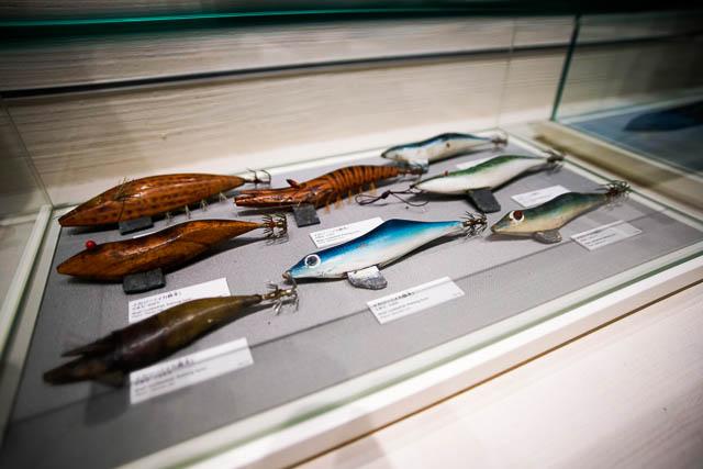 海洋文化館(海洋博公園)イカ釣り用の餌木(えぎ)
