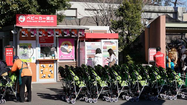 上野動物園の園内貸出用ベビーカー