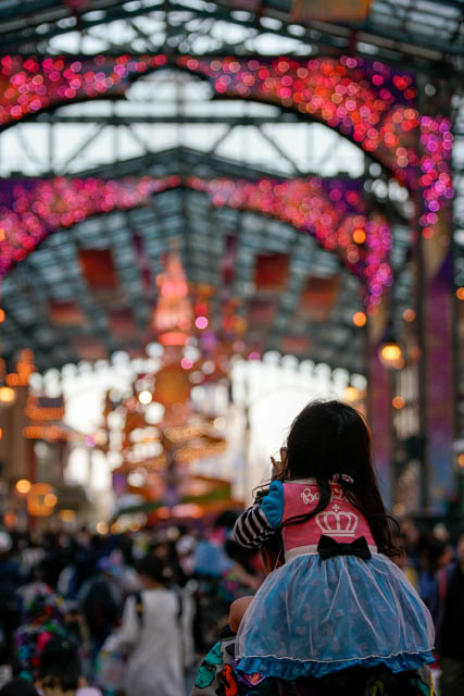 """【35周年ディズニーランド】""""Happiest Celebration!""""で撮影を楽しむ祝祭のパーク(その3:夜景とワールドバザール)"""